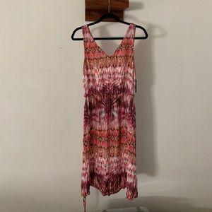 Velvet multi color dress size L